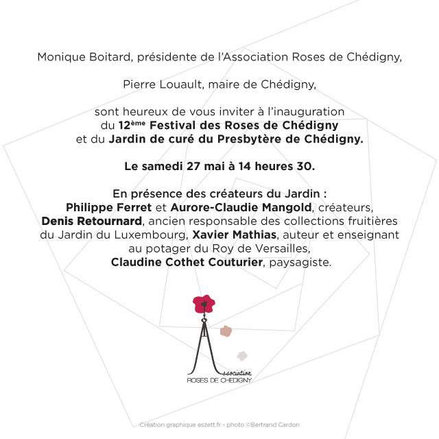 Festival des roses de Chédigny 2017 invitation - eszett studio