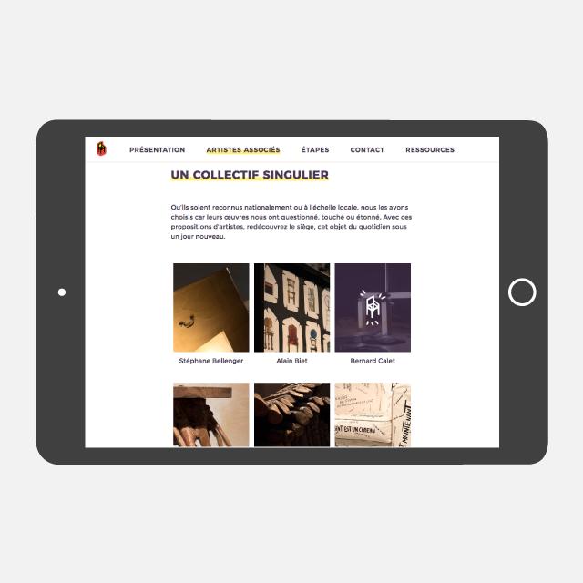 État de sièges site web tablette - eszett studio