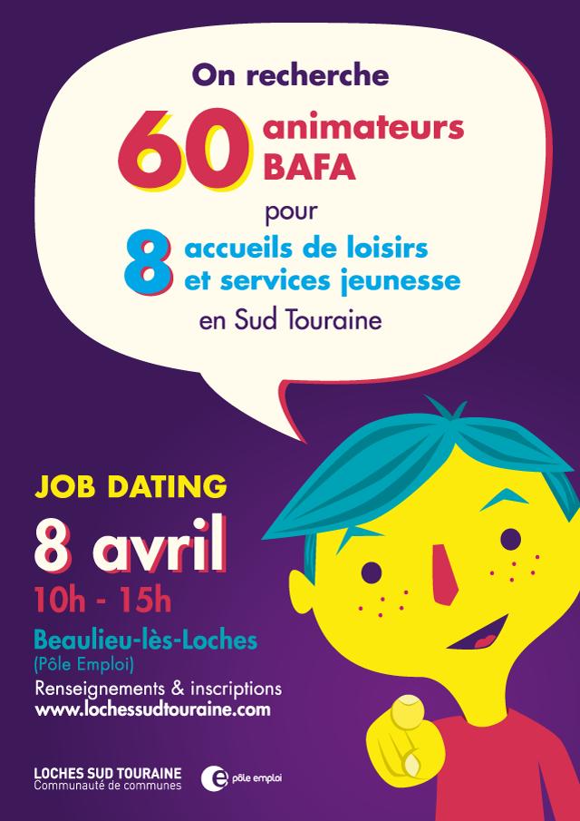 Loches Sud Touraine job dating affiche - eszett studio