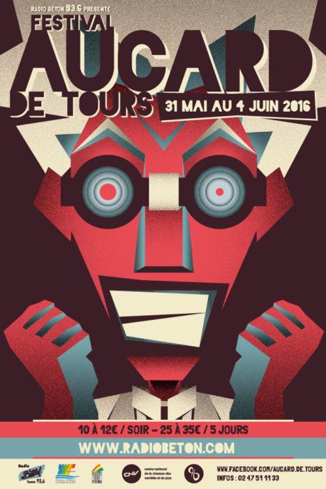 Aucard de Tours 2016 affiche savant fou - eszett studio