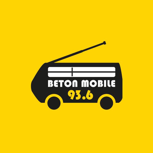 Radio Béton logo béton mobile - eszett studio