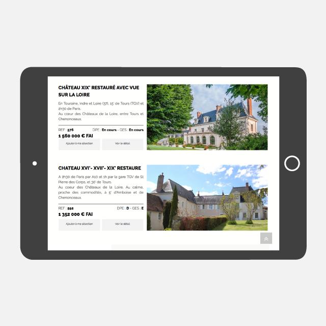 Agence TBI site web tablette - eszett studio