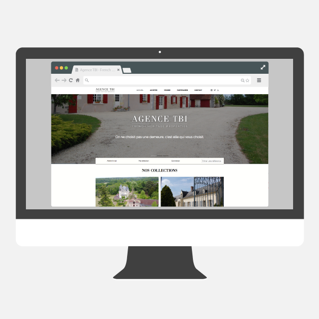 Agence TBI site web - eszett studio