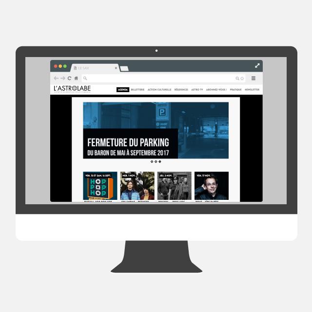 L'Astrolabe site web - eszett studio