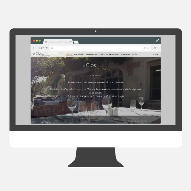 Le Clos aux Rose site web - eszett studio