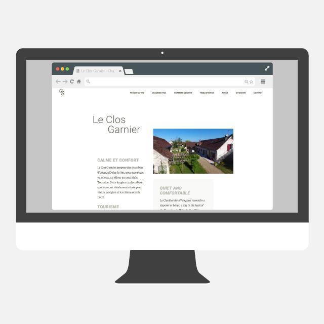 Le Clos Garnier site web - eszett studio