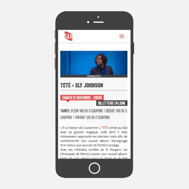 Le SAX site web mobile - eszett studio