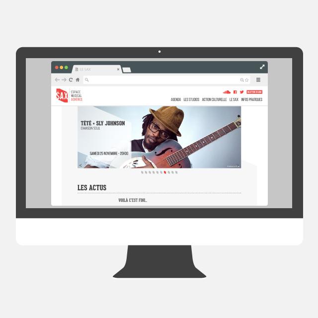 Le SAX site web - eszett studio