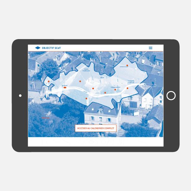 Objectif SCOT site web tablette - eszett studio