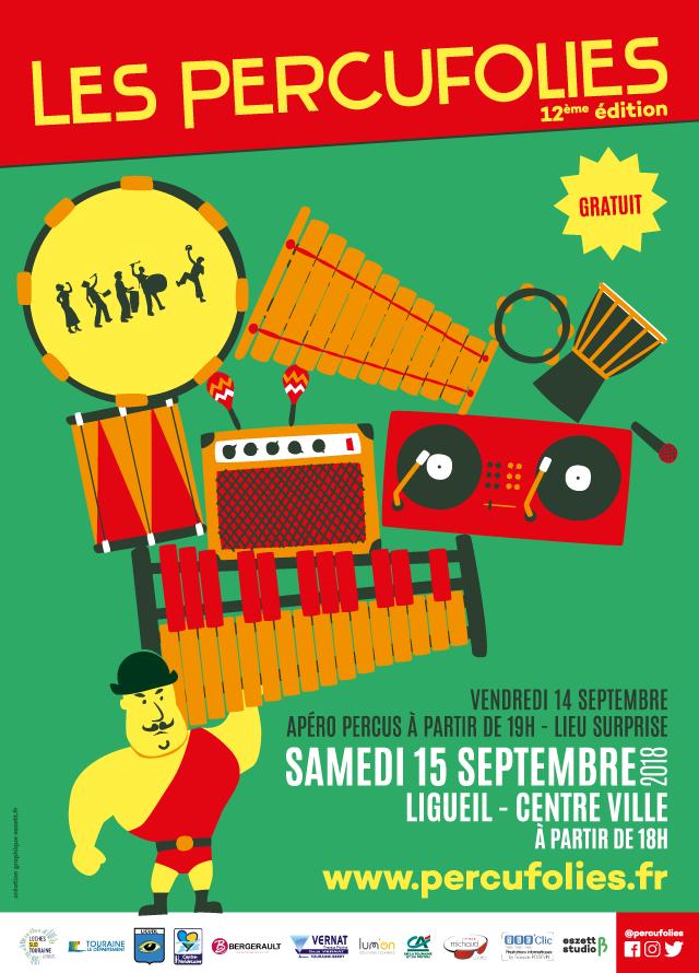 Affiche Les Percufolies - eszett studio