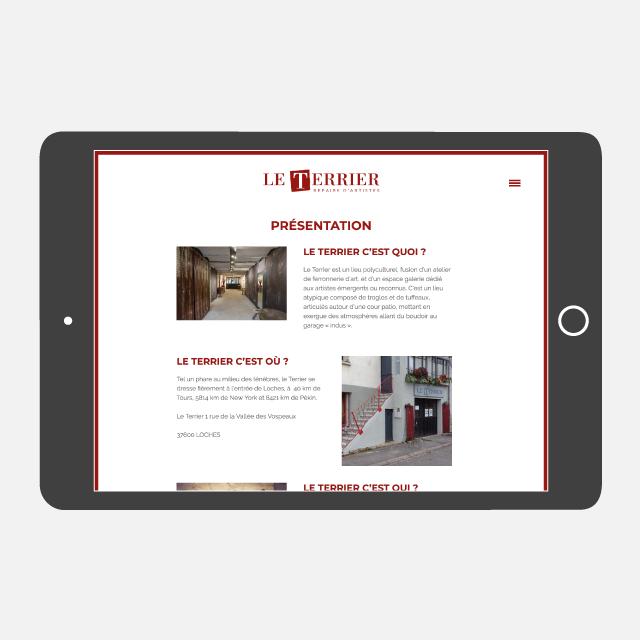 Le Terrier site web - eszett studio