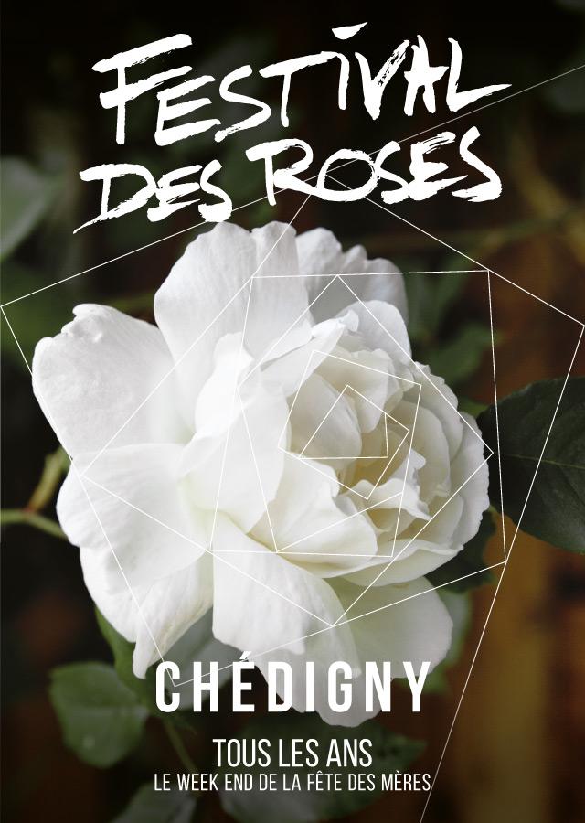 Festival des roses de Chédigny 2016 affiche - eszett studio