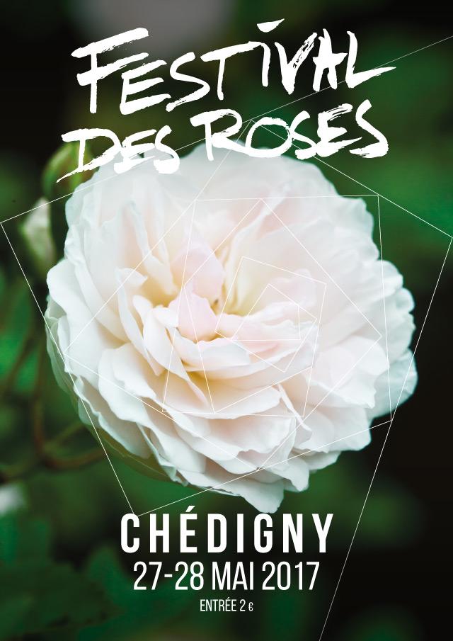 Festival des roses de Chédigny 2017 affiche - eszett studio