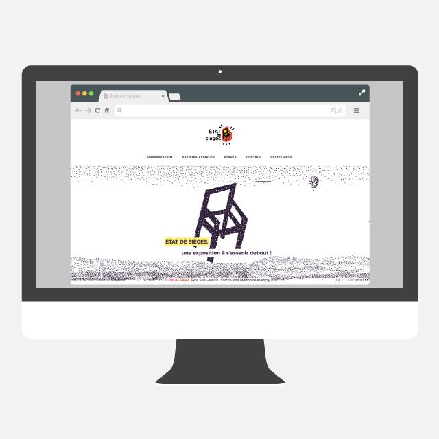 État de siège site web - eszett studio