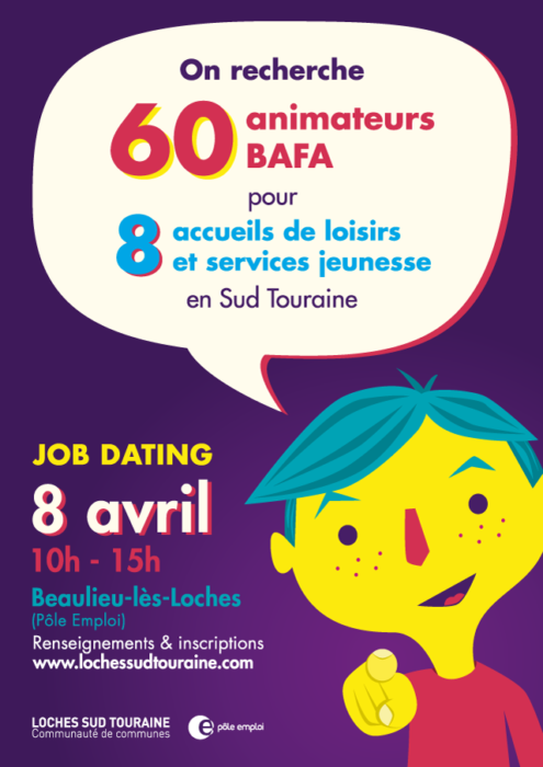 Loches Sud Touraine job dating affiche - eszett studio