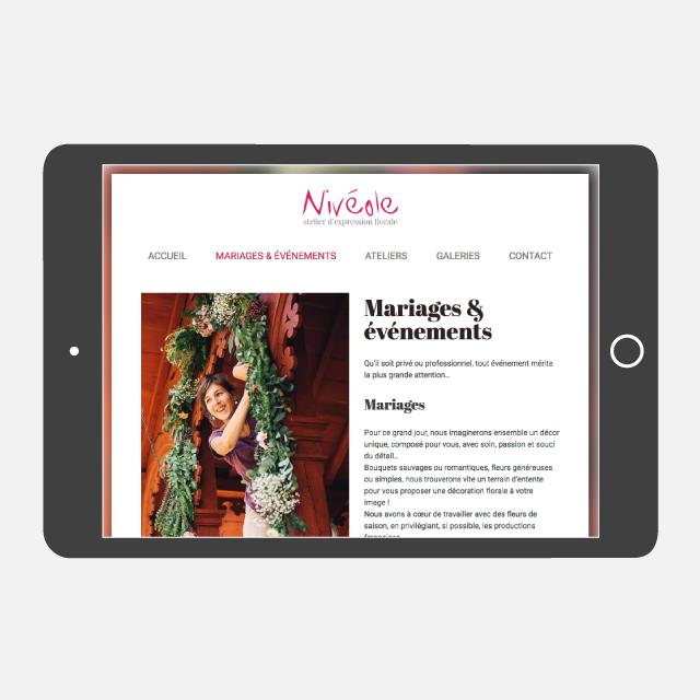 Nivéole site web tablette - eszett studio
