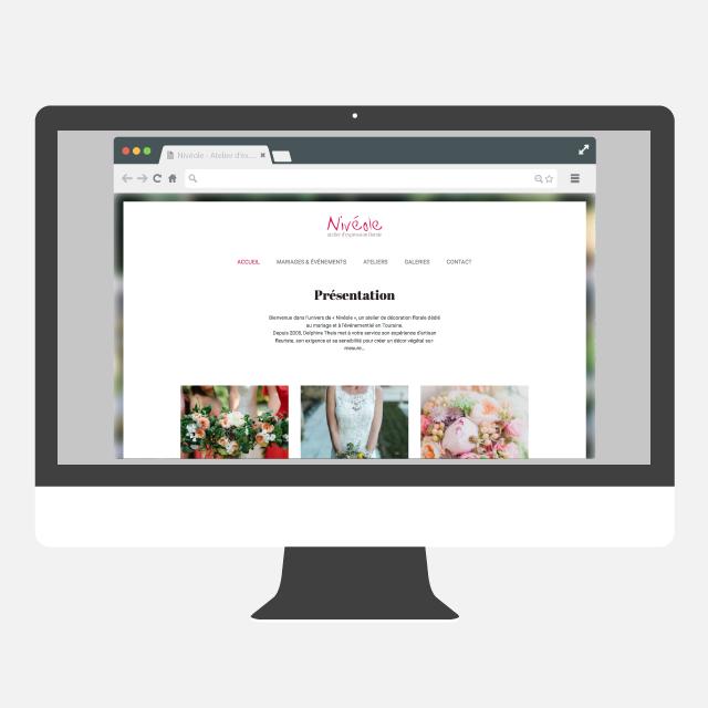 Nivéole site web - eszett studio