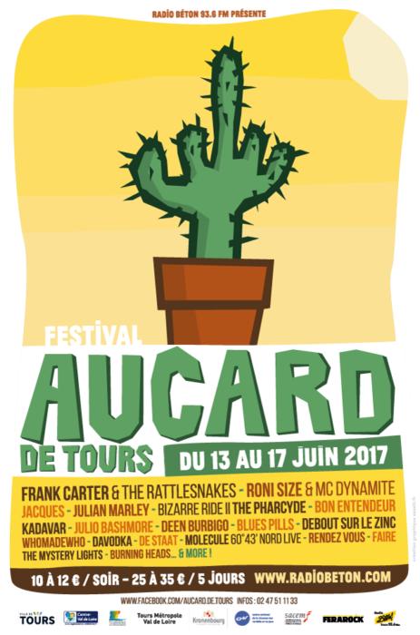 Aucard de Tours 2017 affiche cactus - eszett studio