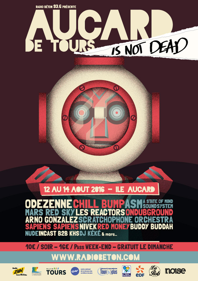 Aucard de Tours is not dead 2016 affiche - eszett studio