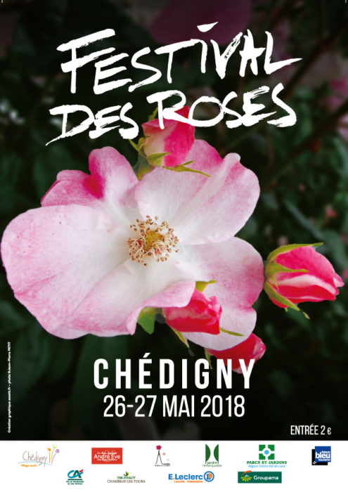 Festival des roses de Chédigny 2018 affiche - eszett studio
