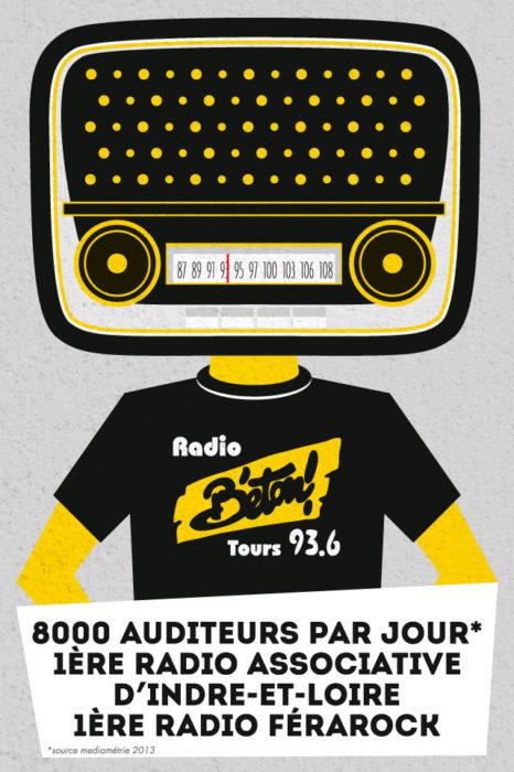 Radio Béton carte postale - eszett studio