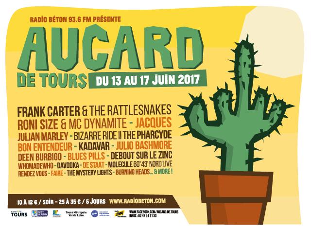 Aucard de Tours 2017 affiche decaux cactus - eszett studio