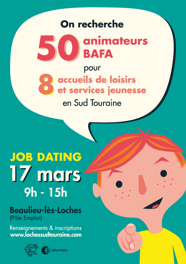 Loches Sud Touraine job dating affiche 2018 - eszett studio