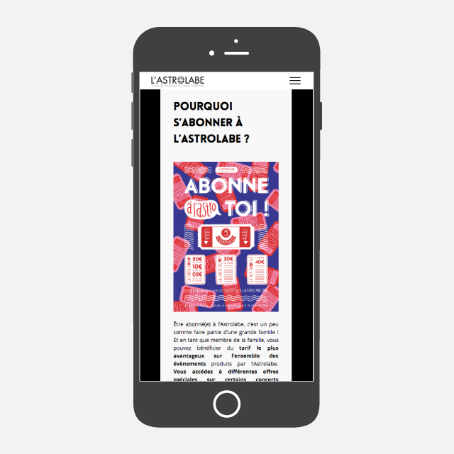 L'Astrolabe site web mobile - eszett studio