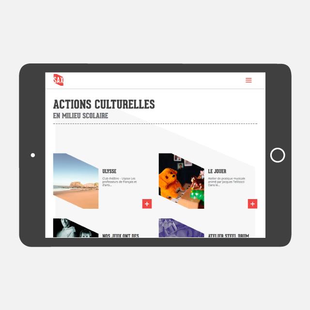 Le SAX site web tablette - eszett studio