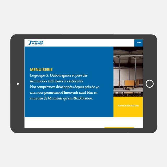 Menuiserie G Dubois site web tablette - eszett studio