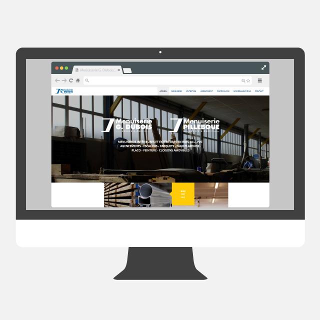Menuiserie G Dubois site web - eszett studio