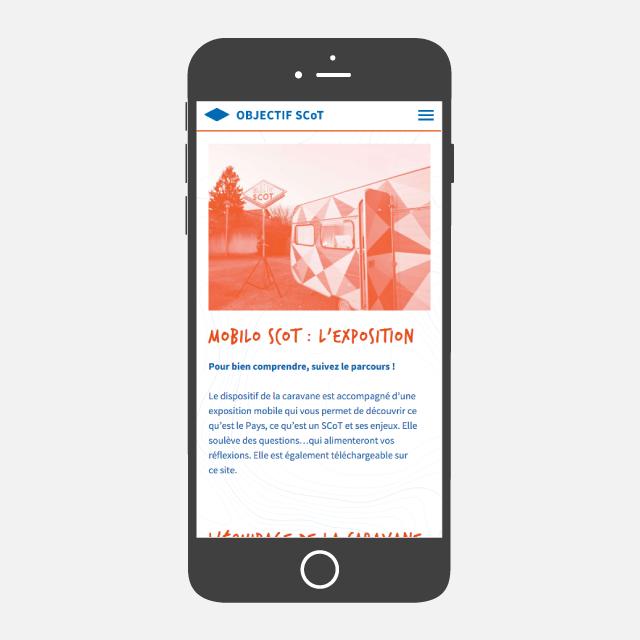 Objectif SCOT site web mobile - eszett studio