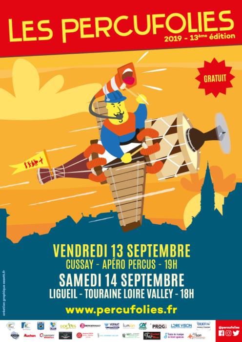 Affiche Les Percufolies 2019 - eszett studio