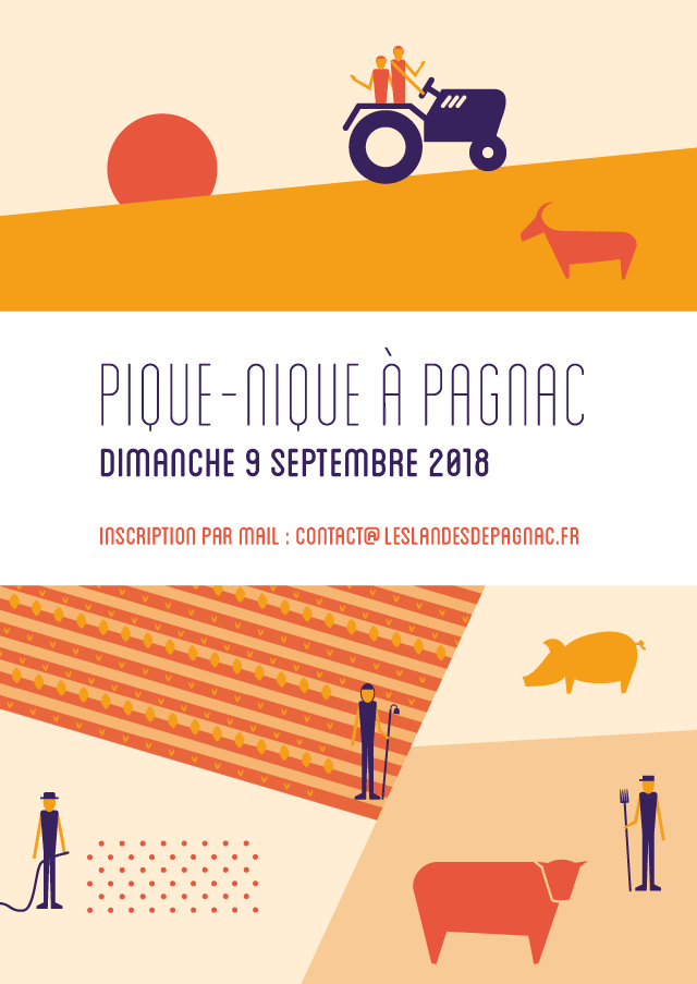 Affiche pique-nique à Pagnac - eszett studio