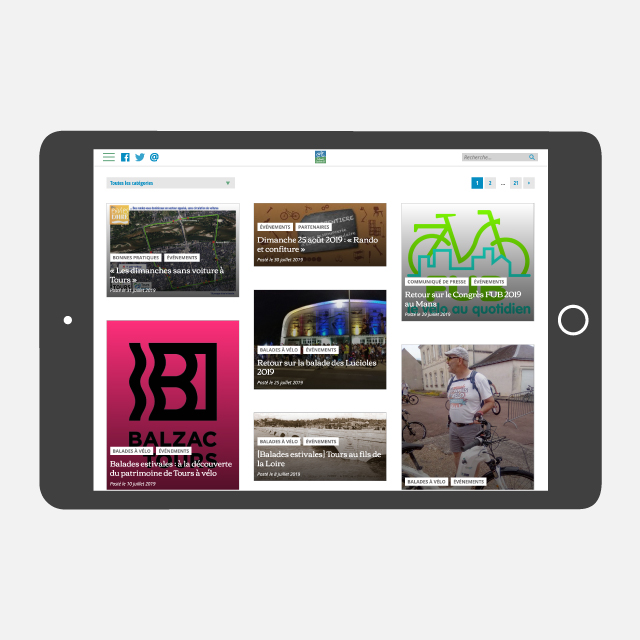 Site Collectif Cycliste 37 - eszett studio