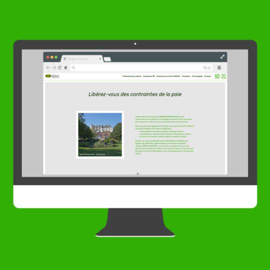 Site Dédale Services - eszett studio