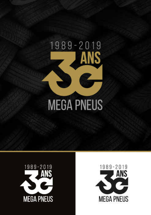 30 ans Méga Pneus - eszett studio